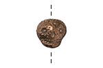 Green Girl Antique Bronze Sugar Skull 15mm