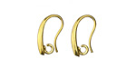Gold (plated) Curved Earwire 8.7x16mm