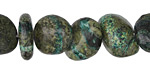 Turquoise Zebra Jasper Tumbled Nugget 7-14x10-12mm