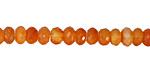 Carnelian (natural orange) Faceted Rondelle 5-7mm
