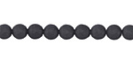 Black Onyx (matte) Faceted Round 6mm