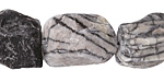 Black Water Jasper (matte) Rough Nugget 13-22x12-20mm