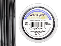 Artistic Wire Silver Plated Hematite 20 gauge, 25 feet