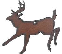The Lipstick Ranch Rusted Iron Deer Pendant 68x61mm