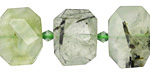 Green Tourmalinated Quartz Faceted Flat Slab 14-16x20-24mm