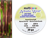Artistic Wire MultiColor Brown/Green/Gold 20 Gauge, 4 Yards