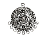 Zola Elements Antique Silver (plated) Ring of Hearts Chandelier Focal 34x36mm