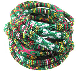 Green Round Woven Cotton Cord 6mm
