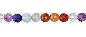 Rainbow Multi Gemstone Faceted Round 6mm