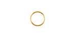 Gold (plated) Round Jump Ring 10mm, 18 gauge