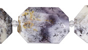 Amethyst Sage Agate Faceted Flat Slab 28-38x22-30mm
