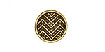 Antique Brass (plated) Zig Zag Button 15mm