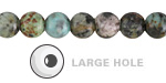 African Turquoise Round (Large Hole) 8mm