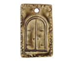 Earthenwood Studio Ceramic Rustic Door Pendant 22x37mm