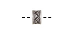 Antique Silver (plated) Zig Zag Large Hole Slide 6x9.5mm