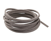 Concrete Microsuede Flat Cord 3mm