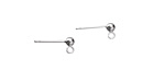 Amoracast Sterling Silver Ball w/ Loops Post Earring 3mm