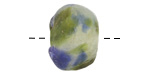 African Recycled Glass Earth Tumbled Round 13-19x-18-22mm