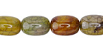 Olive Fire Agate Barrel 14x10mm