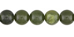 Green Serpentine (dark) Round 10mm
