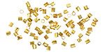 Beadalon Gold (plated) Groovy Crimp Tubes 1.8mm, 1.3mm I.D.