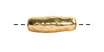 Nunn Design Antique Gold (plated) Organic Tube 17x6mm