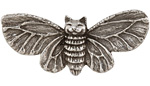 Green Girl Pewter Kitty Moth 58x26mm
