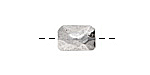 Nunn Design Antique Silver (plated) Faceted Rectangle 13x9mm