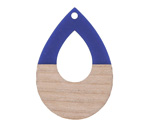 Wood & Indigo Resin Open Teardrop Focal 25x38mm