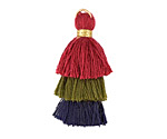 Ivy League Mix Small 3-Tiered Tassel 35mm