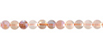 Peach Moonstone AB Faceted Puff Coin 4mm