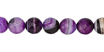 Purple Line Agate Faceted Round 10mm