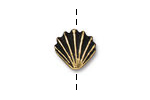 TierraCast Antique Gold (plated) Large Shell Bead 13mm
