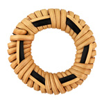 Natural Rattan-Style w/ Black Rattan Woven Ring Focal 37-39mm
