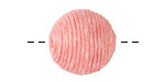 Grapefruit Thread Wrapped Bead 18mm