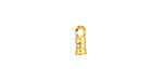 Gold (plated) Crimp Cord End 2mm
