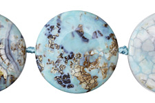 Aqua Terra Agate Coin 45mm