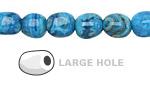Larimar Blue Crazy Lace Agate Nugget (Large Hole) 10x8mm