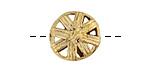 African Brass Basket Sun Coin 16-18mm
