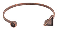 Nunn Design Antique Copper (plated) Triangle/Circle Bezel Cuff Bracelet