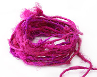 Magenta Recycled 100% Silk Sari Yarn