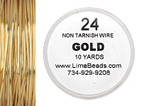 Parawire Non-Tarnish Gold 24 gauge, 10 yards
