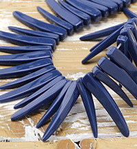 Indigo Acrylic Curved Spike 5x37-8x43mm