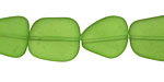 Olive Recycled Glass Flat Freeform 15x13-15mm