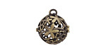 Antique Brass (plated) Bouquet Diffuser Locket 17x18mm