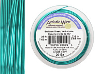 Artistic Wire Silver Plated Seafoam Green 20 gauge, 25 feet