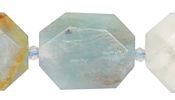 Black Gold Amazonite Faceted Flat Slab 28-38x22-30mm