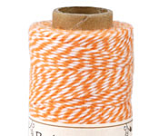 Orange/White Bakers Twine 2 ply, 410 ft