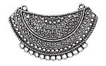 Antique Silver (plated) Chain Bib Focal Link 58x36mm