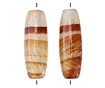 Red Line Agate Rice Pair 27-33x11-12mm